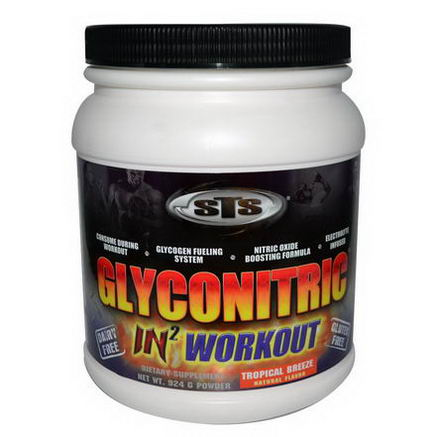 Supplement Training Systems, GlycoNitric In Workout, Tropical Breeze, 924g Powder