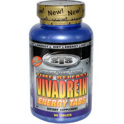 Supplement Training Systems, Time Release Vivadrein, Energy Tabs, 90 Tablets