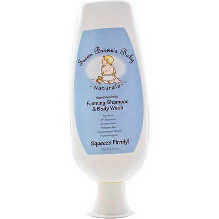 Susan Brown's Baby, Sensitive Baby, Foaming Shampoo & Body Wash, 8.4 fl oz (250 ml)