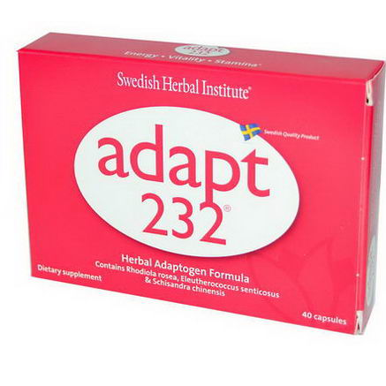 Swedish Herbal Institute, Adapt-232, Herbal Adaptogen Formula, 40 Capsules