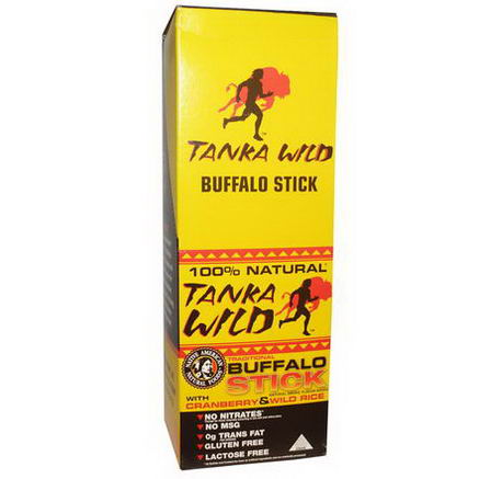 Tanka, Tanka Wild, Buffalo Stick, With Cranberry & Wild Rice, 24 Pack, 28g Each