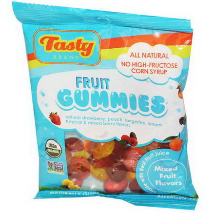 Tasty Brand, Fruit Gummies, Mixed Fruit Flavors, 2.75oz (78g)