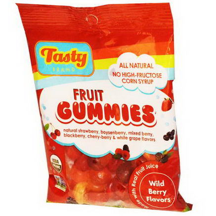 Tasty Brand, Fruit Gummies, Wild Berry Flavors, 2.75oz (78g)