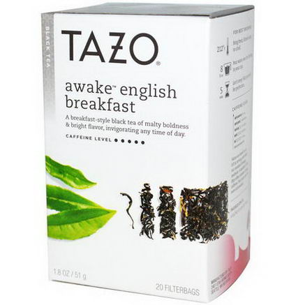 Tazo Teas, Awake English Breakfast, Black Tea, 20 Filterbags, 1.8oz (51g)