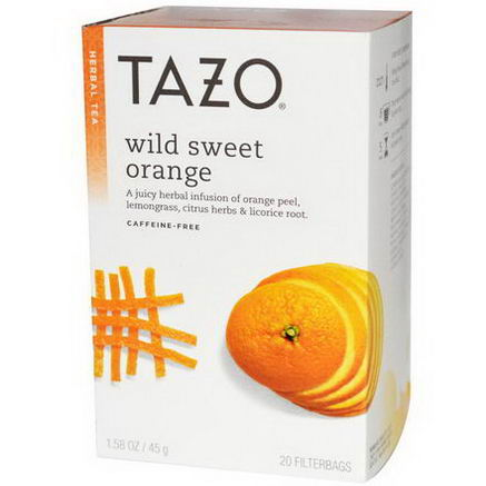 Tazo Teas, Wild Sweet Orange, Herbal Tea, Caffeine-Free, 20 Filterbags, 1.58oz (45g)