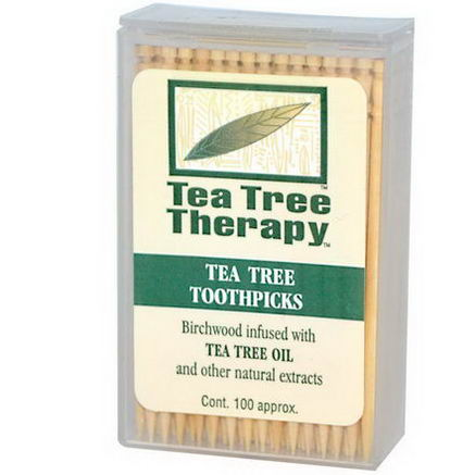 Tea Tree Therapy, Tea Tree Toothpicks, 100 Approx.
