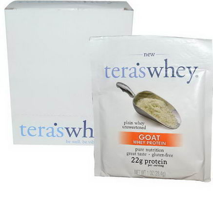 Tera's Whey, Goat Whey Protein, Plain Whey Unsweetened, 12 Packets, 1oz (28.4g) Each