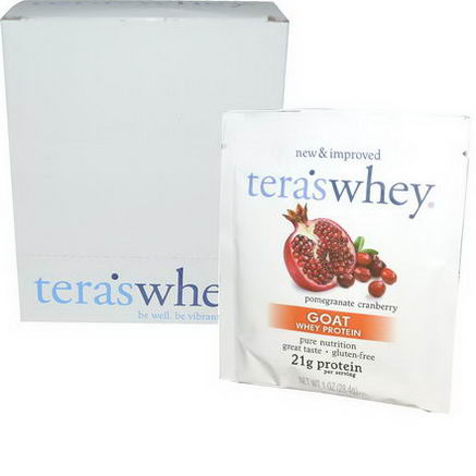 Tera's Whey, Goat Whey Protein, Pomegranate Cranberry, 12 Packets, 1oz (28.4g) Each