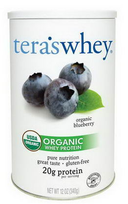 Tera's Whey, Grass Fed Organic Whey Protein, Organic Blueberry, 12oz (340g)