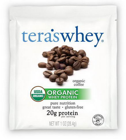 Tera's Whey, Grass Fed Organic Whey Protein, Organic Coffee, 12 Packets, 1oz (28g) Each