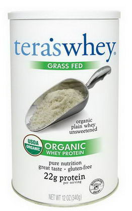 Tera's Whey, Grass Fed Organic Whey Protein, Organic Plain Whey Unsweetened, 12oz (340g)