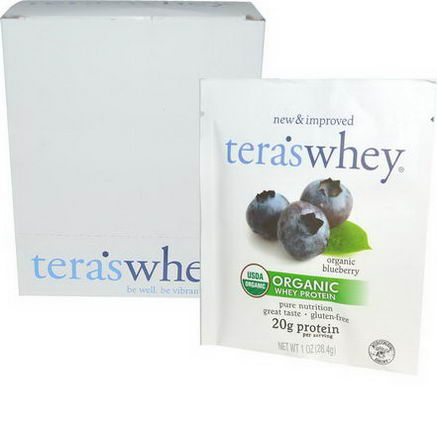 Tera's Whey, Organic Whey Protein, Organic Blueberry, 12 Packets, 1oz (28.4g) Each