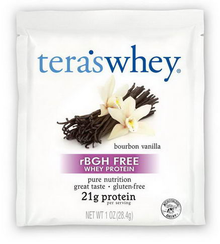 Tera's Whey, rBGH Free Whey Protein, Bourbon Vanilla, 12 Packets, 1oz (28g) Each