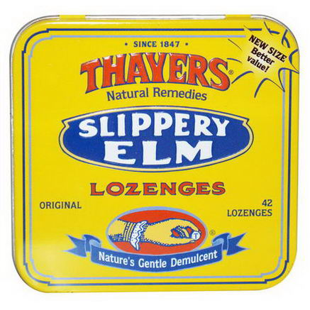 Thayers, Slippery Elm Lozenges, 42 Lozenges