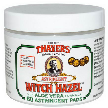 Thayers, Witch Hazel Astringent Pads, 60 Pads