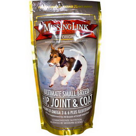 The Missing Link, Ultimate Small Breed - Hip, Joint & Coat for Dogs, 8oz (227g)