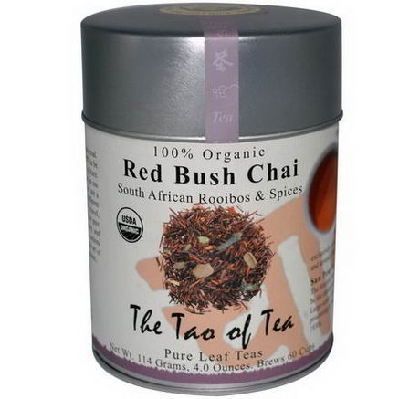 The Tao of Tea, 100% Organic South African Rooibos & Spices, Red Bush Chai, Caffeine Free, 4oz (114g)