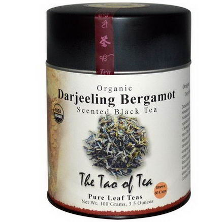 The Tao of Tea, Organic Darjeeling Bergamot, Scented Black Tea, 3.5oz (100g)