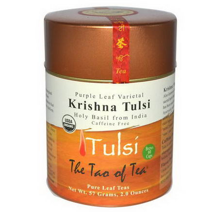 The Tao of Tea, Purple Leaf Varietal, Krishna Tulsi Tea, Caffeine Free, 2oz (57g)