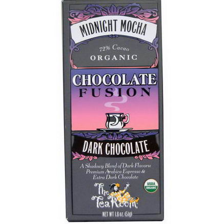 The Tea Room, Chocolate Fusion, Dark Chocolate, Midnight Mocha, 1.8oz (51g)