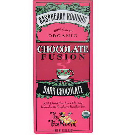 The Tea Room, Chocolate Fusion, Dark Chocolate, Raspberry Rooibos, 1.8oz (51g)