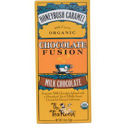 The Tea Room, Chocolate Fusion, Milk Chocolate, Honeybush Caramel, 1.8oz (51g)