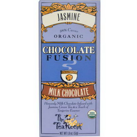 The Tea Room, Chocolate Fusion, Milk Chocolate, Jasmine, 1.8oz (51g)