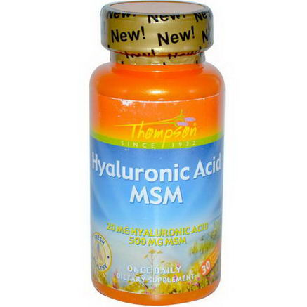 Thompson, Hyaluronic Acid - MSM, 30 Enteric Coated Capsules
