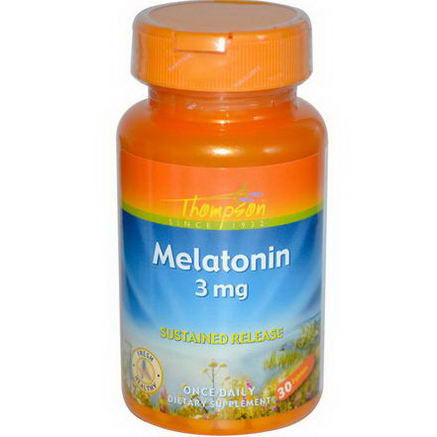Thompson, Melatonin, 3mg, 30 Tablets