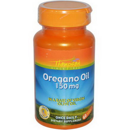 Thompson, Oregano Oil, 150mg, 60 Softgels