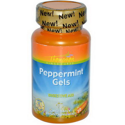 Thompson, Peppermint Gels, 30 Softgels