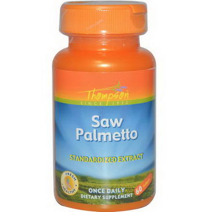 Thompson, Saw Palmetto Standardized Extract, 60 Softgels