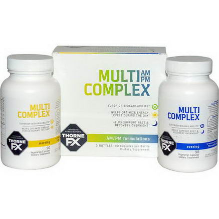 Thorne FX, Multi Complex AM/PM Formulation, Recovery, 2 Bottles, 90 Capsules Each
