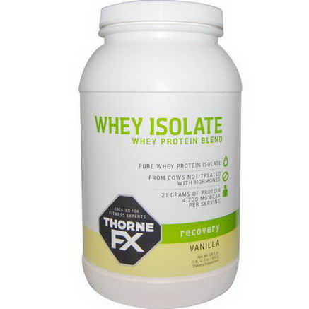 Thorne FX, Whey Protein Blend Isolate, Recovery, Vanilla, 28.5oz (810g)