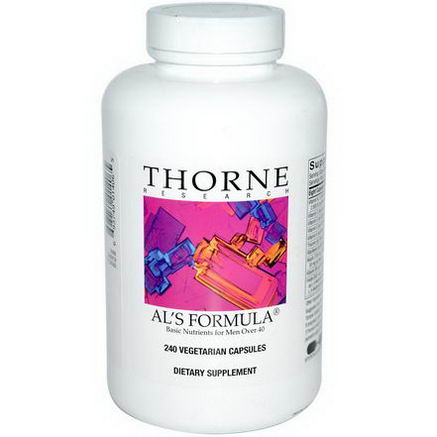 Thorne Research, Al's Formula, Basic Nutrients for Men Over 40, 240 Veggie Caps