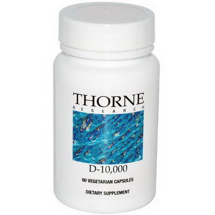 Thorne Research, D-10, 000, 60 Veggie Caps