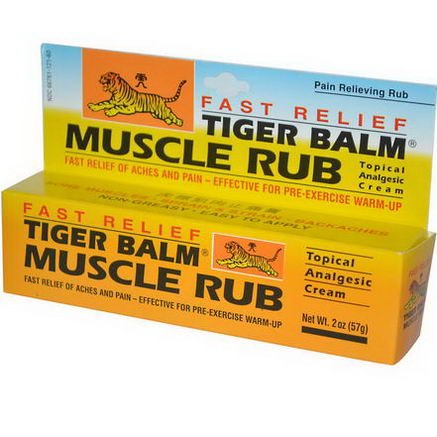 Tiger Balm, Fast Relief Muscle Rub, Topical Analgesic Cream, 2oz (57g)