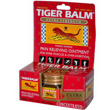 Tiger Balm, Pain Relieving Ointment, Extra Strength, 0.63oz (18g)