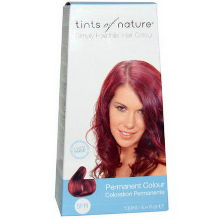 Tints of Nature, Permanent Color, Fiery Red, 5FR, 4.4 fl oz (130 ml)