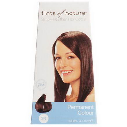 Tints of Nature, Permanent Color, Natural Dark Brown, 3N, 4.4 fl oz (130 ml)