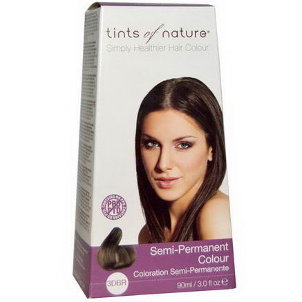 Tints of Nature, Semi-Permanent Color, Dark Brown, 3DBR, 3.0 fl oz (90 ml)