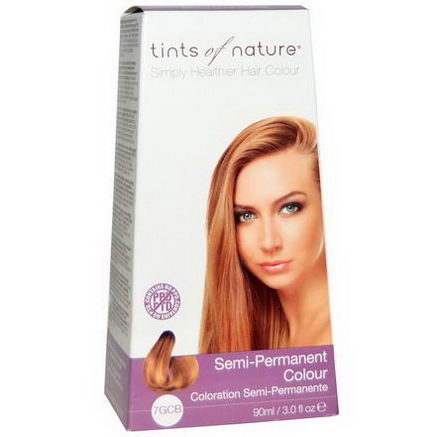 Tints of Nature, Semi-Permanent Color, Golden Copper Blonde, 7GCB, 3.0 fl oz (90 ml)