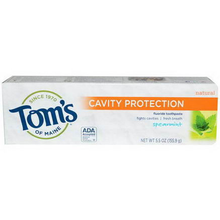 Tom's of Maine, Cavity Protection Fluoride Toothpaste, Spearmint, 5.5oz (155.9g)