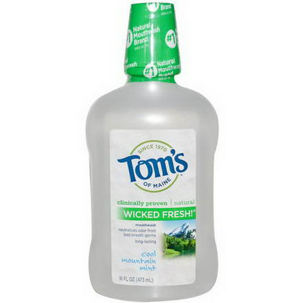 Tom's of Maine, Wicked Fresh! Mouthwash, Cool Mountain Mint, 16 fl oz (473 ml)