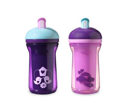 Tommee Tippee, Explora, Easiflow, Insulated Spill Proof Straw Cups, 2 Cups, 9 fl oz (266 ml) Each