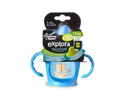 Tommee Tippee, Explora, Easiflow, Spill Proof Trainer Cup, 1 Cup, 9 fl oz (266 ml)
