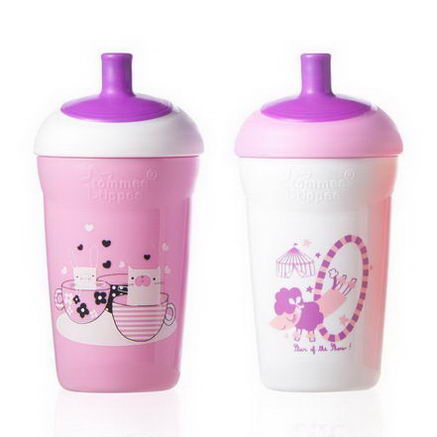 Tommee Tippee, Explora, Spill Proof Circus Water Bottles, Special Edition, 2 Cups, 12 fl oz (335 ml) Each