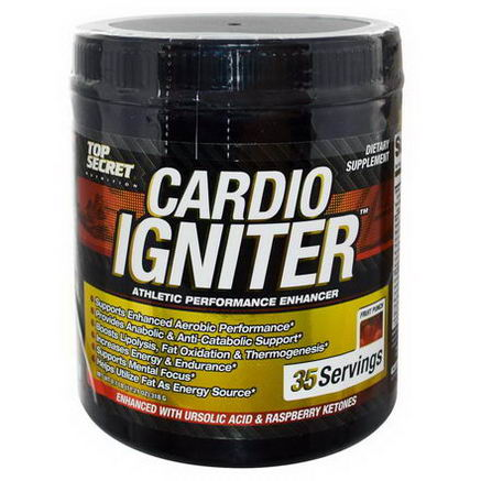 Top Secret Nutrition, LLC, Cardio Igniter, Athletic Performance Enhancer, Fruit Punch, 11.21oz (318g)