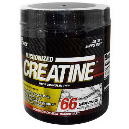 Top Secret Nutrition, LLC, Micronized Creatine with Cinnulin PF, Unflavored, 11.64oz (330g)