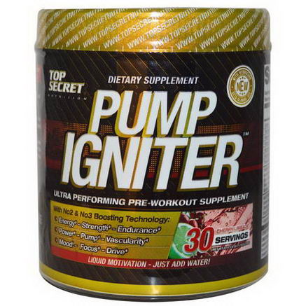Top Secret Nutrition, LLC, Pump Igniter, Cherry Limeade, 8.25oz (234g)